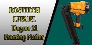 BOSTITCH LPF21PL 21 Degree Framing Nailer